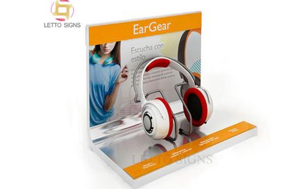 18 Years China Factory Custom Counter Top Earphone Stand Acrylic Headphone Headset Retail Display