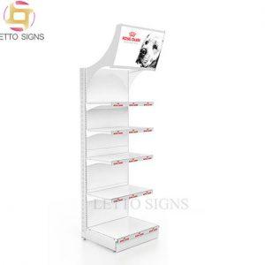 18 Years China Factory Custom Pop Pos Retail Store Pet Food Showcase Floor Wire Metal Display Racks