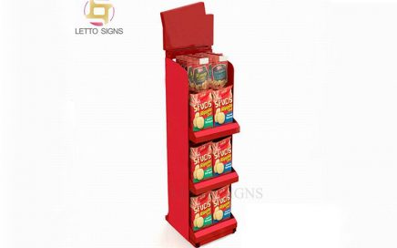18 Years China Factory Retail Store POP POS Floor Cardboard Cookies Snacks Potato Chips Food Product Biscuits Display Stand