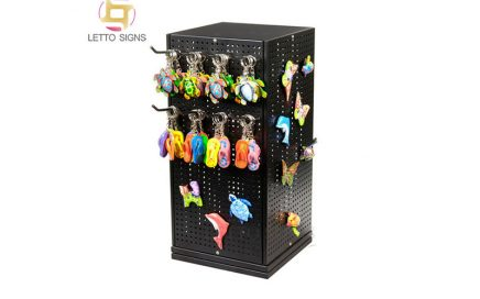 18 Years Factory Custom Counter Top Pegs Hooks Spinning Rotating Gifts Keychain Metal Dispaly Stands