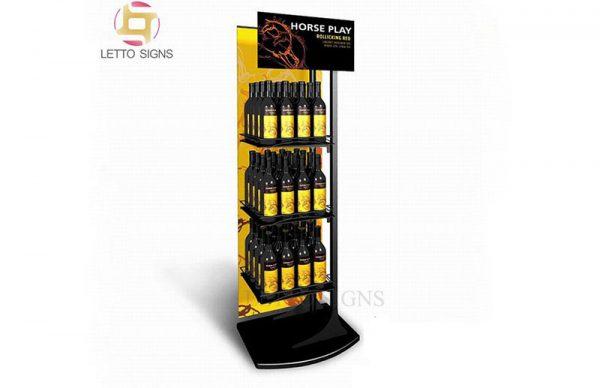 18 Years Factory Pop Pos Retail Store Supermarket Floor Metal And Wood Commercial Wine Display Racks