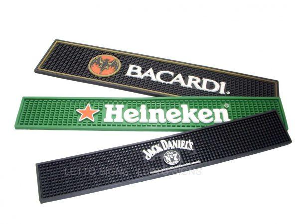 Custom PVC Rubber Drip Mat Beer Bar Mat