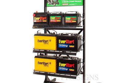 Flooring Metal Storage Battery Display Rack