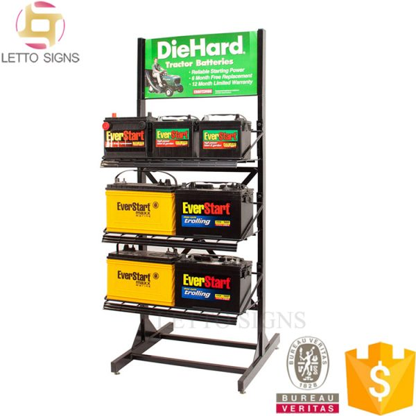 Flooring Metal Storage Battery Display Rack