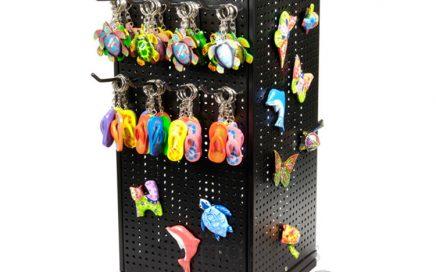 Holder Display Coated Hooks For Keychain Holder