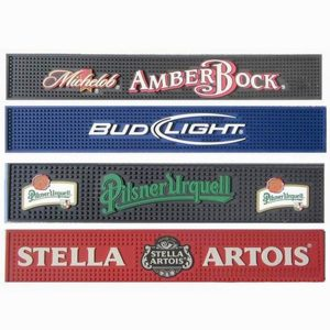 Anti Slip Personalized Custom PVC Rubber Bar Mat