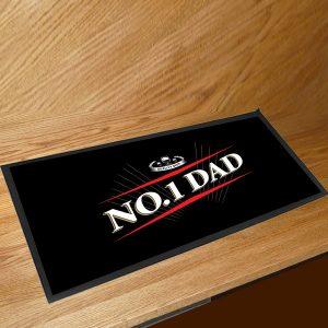 Custom print Logo NBR rubber felt bar spill mat