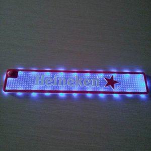 custom promotion pvc Led bar mat