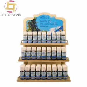 18 Years China Factory Custom Counter Top Retail Wooden Essential Oil Display