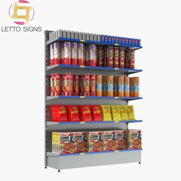 18 Years China Wire Metal Retail Shop Store Gondola Rack Supermarket Racks For Sale