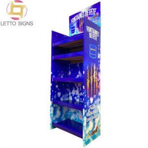 Merchandising Custom Firworks Retail Store Pop Corrugated Cardboard Floor Displays