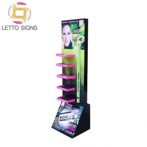 18 Years Factory Foldable Corrugated Cardboard Floor Retail Store Lashes Makeup Cosmetics Paper Display Rack