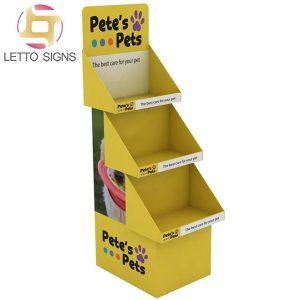 18 Years Factory Free Sample Custom Tiered Floor Retail Dog Pet Storage Store Display Funko Pop Cardboard Retail Display Racks