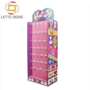 18 Years Factory Pos Retail Store Floor Product Advertising Cardboard Makeup Cosmetic Lashes Eyelash Display Stand