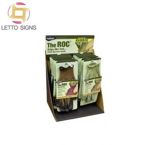 18 Years Pop Pos Retail Store Hooks Pegs Counter Top Corrugated Paper Cardboard Display Boxes Rack Stand Golf Gloves Display