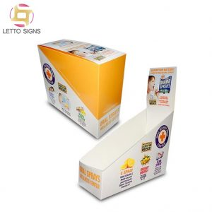 China Custom Retail Store Tear Off Carton Corrugated Paper Cardboard Wellness Products Display Box Counter Shipper Displays
