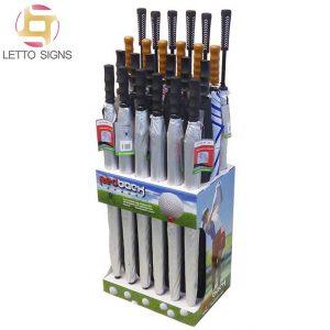 Merchandising Pop Pos Retail Shop Store Floor Corrugated Cardboard Golf Umbrella Display Rack